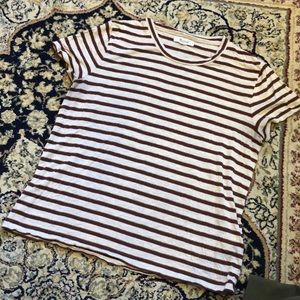 Madewell Striped Sparkle Tee